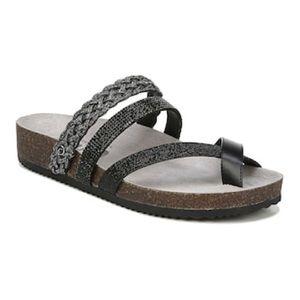 Same Edelman Oriel Cross Strap Slide Sandal